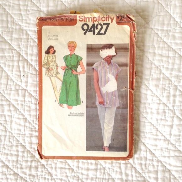 Maternity Smock Sewing Pattern (Vintage Size 12)